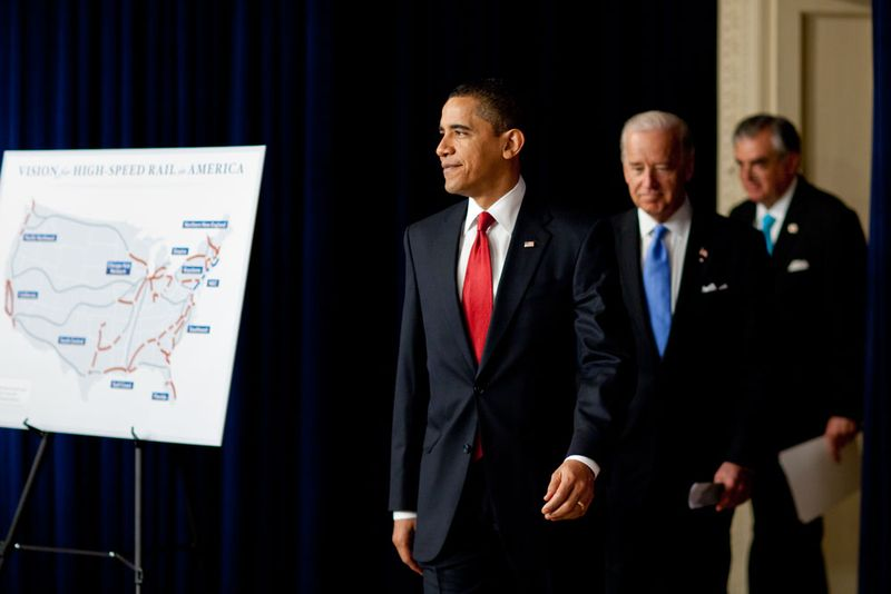 President Obama announces high speed rail initiative