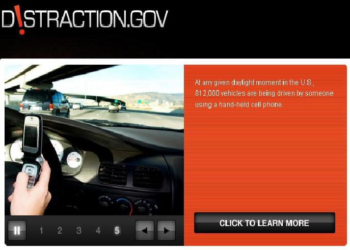 Distraction.gov website