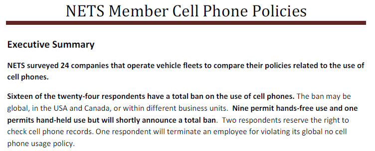Download sample cell-phone policies from 24 leading employers