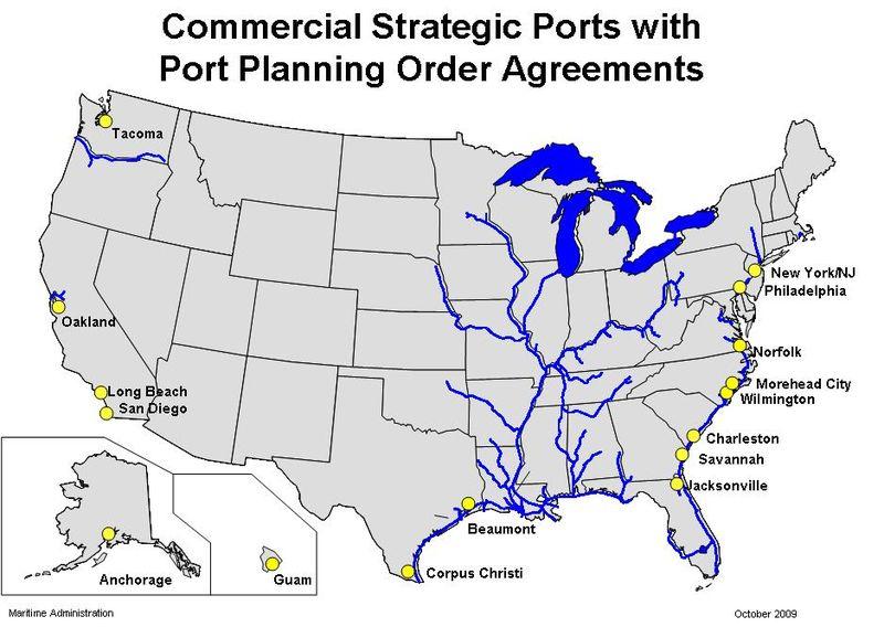 Strategic Ports map