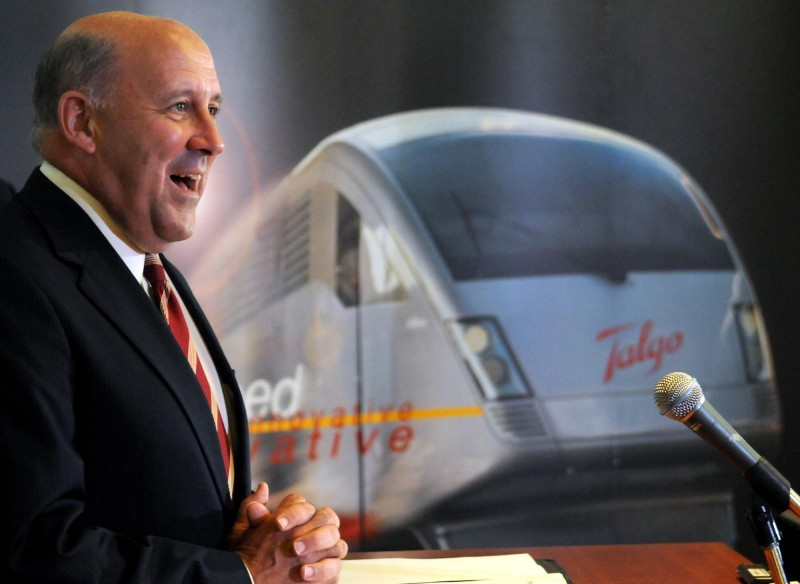 Wisconsin Governor Jim Doyle during HSR announcement