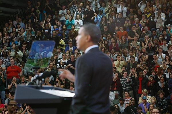 Pres Obama at Florida town hall