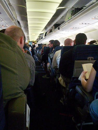 Crowded flight