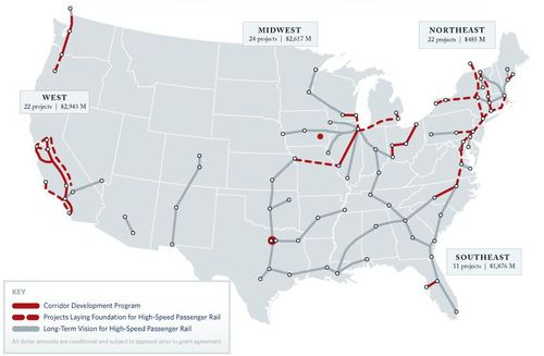 View a great interactive High Speed Rail map