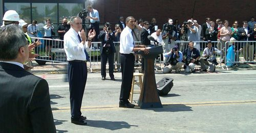 With Pres Obama in Columbus