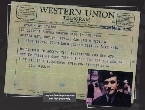 Gene Kelly telegram
