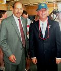Regional FAA Administrator Joe Miniace with Nebraska Gov. Dave Heineman in FAA hat
