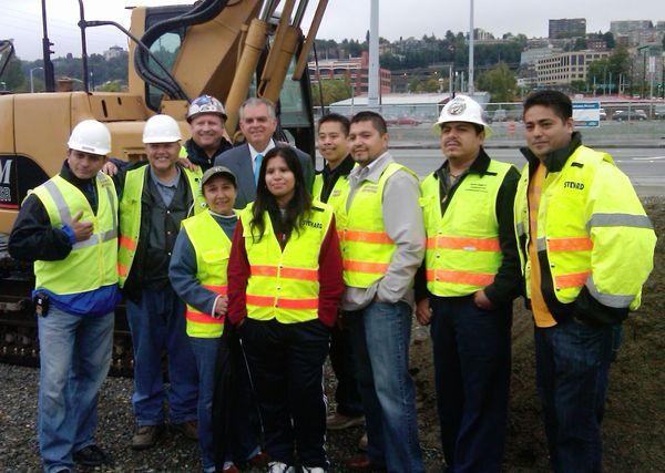 With Mercer Corridor workers