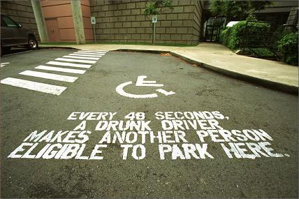 Parkng space drunk-driving