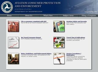 Aviation Consumer Protection & Enforcement webpage