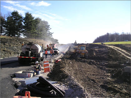 Construction on the taconic