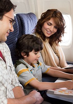 Happy Family on Plane