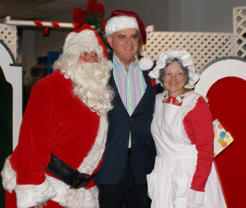 With Santa and the Mrs
