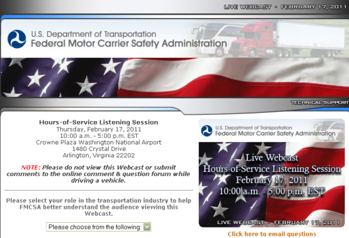 FMCSA- Public Listening Session on Hours-of-Service Proposed Rule_1297883671177