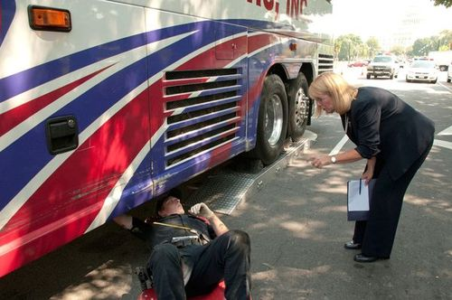 AnneFerro bus inspection