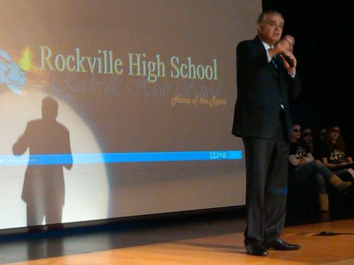 Speaking at Rockville HS