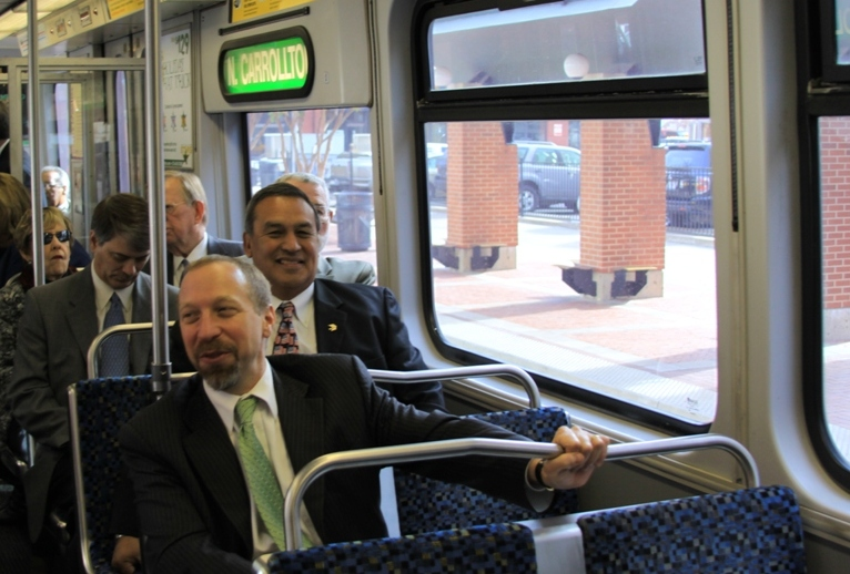 Administrator Rogoff rides the Green Line