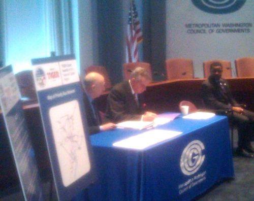 Signing MWCOG TIGER agreement