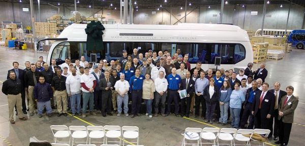 Proterra crew with first bus
