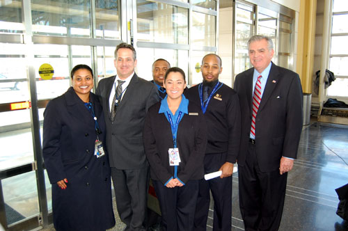 With JetBlue crew