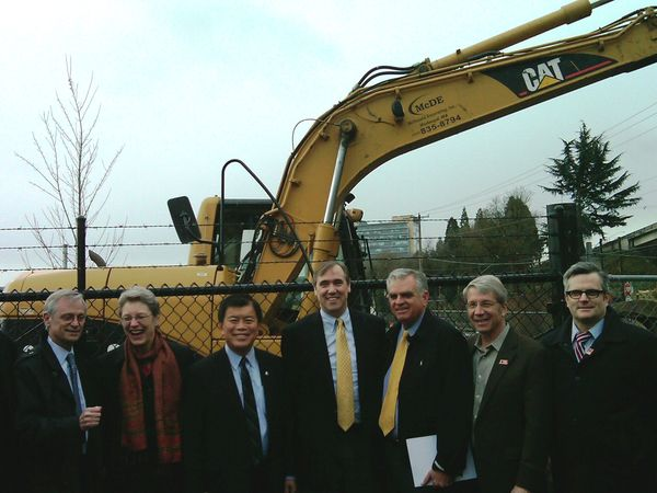 At the TIGER groundbreaking