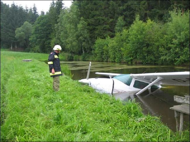 Cessna in River