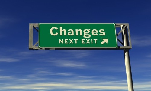 Changes-road-sign