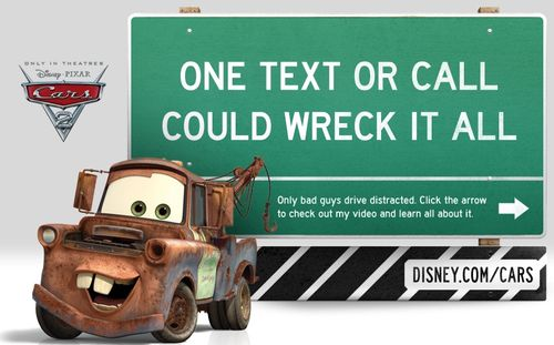 Visit the Cars 2 page on distraction.gov