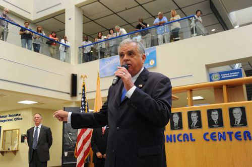 LaHood at Technical Center