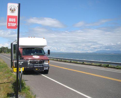 Lummi Transit Bus and Sign Bay Ln @ Lummi Shore Rd