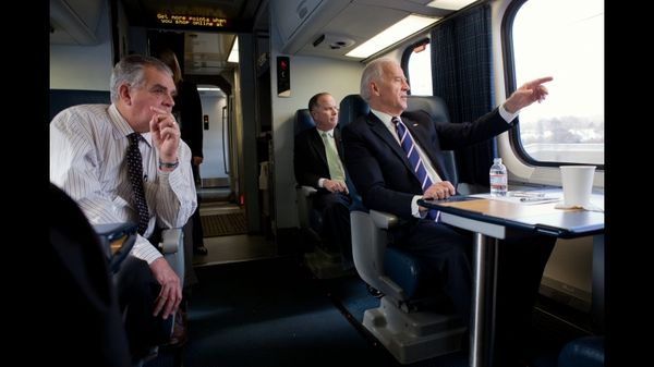 Riding with Vice President Biden