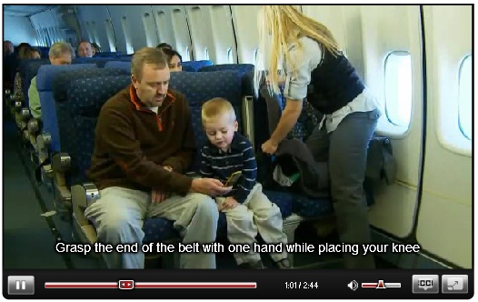 Watch the safety video on www.faa.gov/passengers/fly_children