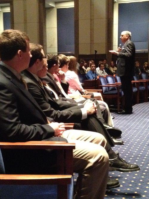 Addressing congressional summer interns