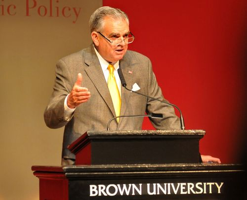 Making a point at Brown