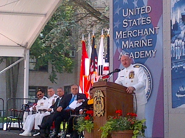 Captain Kelly at KP commencement