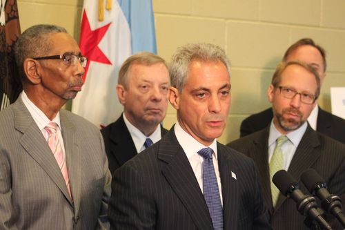 Chicago Mayor Rahm Emanuel at 95th Street Terminal TIGER announcement
