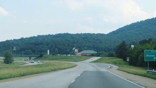 Rural highway interchange