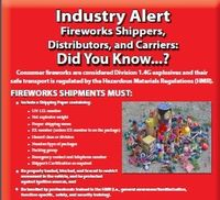 Consumer Fireworks Safety Alert
