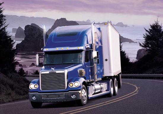 Trucks move American goods