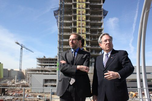 PeterRogoff in front of construction