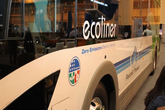 The Proterra Zero-Emissions EcoLiner, purchased by Foothills Transit with FTA support