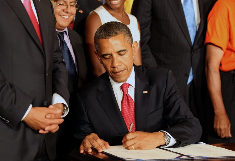 Signing the bill