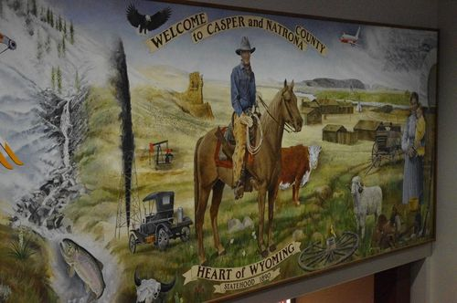Mural at Casper airport in Wyoming