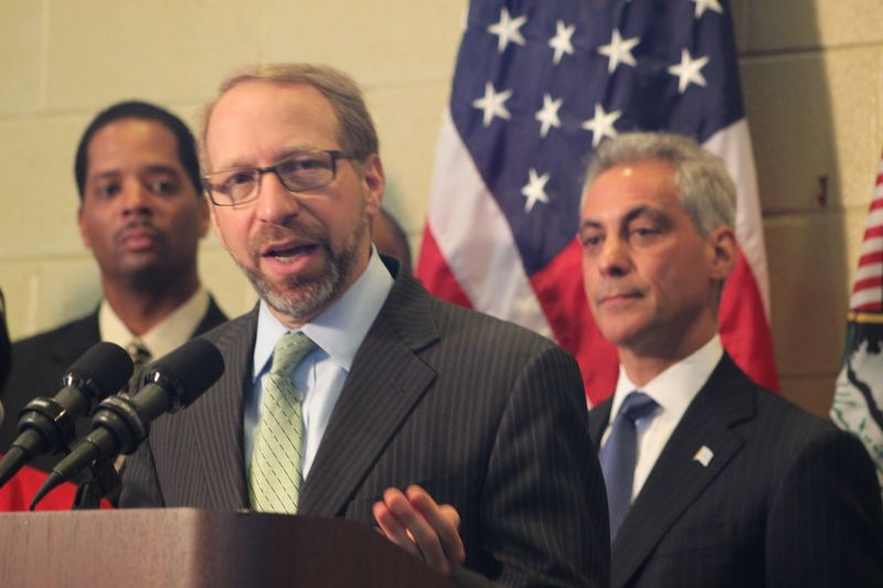 FTA Adminstrator Peter Rogoff at TIGER grant announcement in Chicago