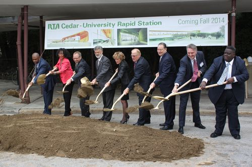 FTA Administrator Rogoff breaking ground