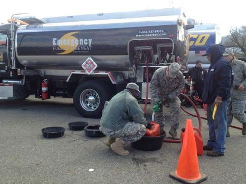 FEMA emergency fuel truck