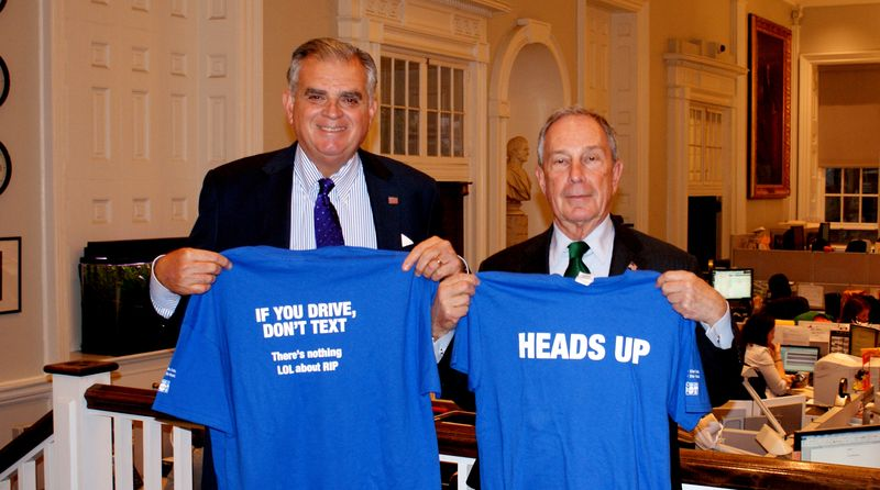 With Mayor Bloomberg and t-shirts from NYC DOT