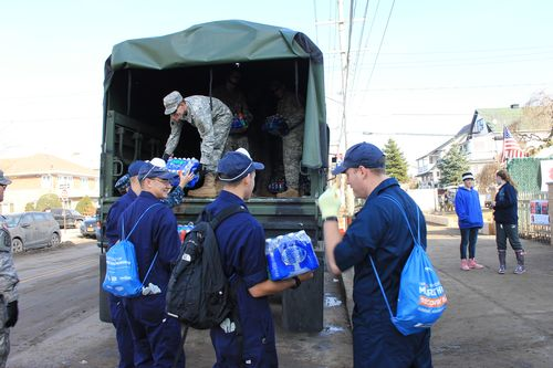 A human supply chain for relief