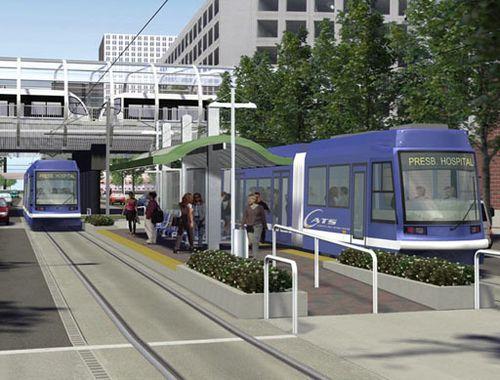 Charlotte Streetcar rendering