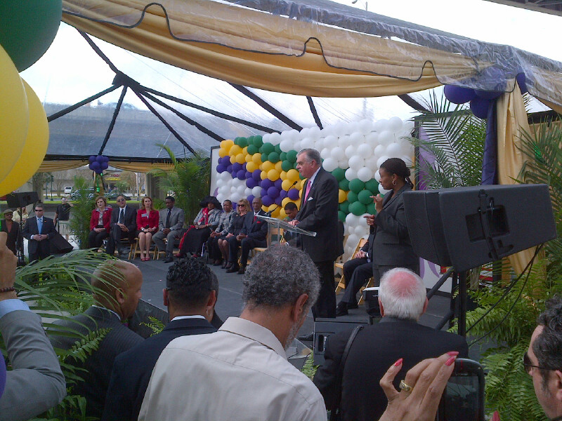 At the Loyola Streetcar grand opening in New Orleans